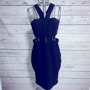 Express Black Cutout Party Dress